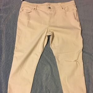 NWT LOFT relaxed skinny destructed jeans